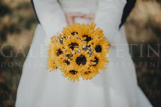 Svadobná kytica Slnečnice