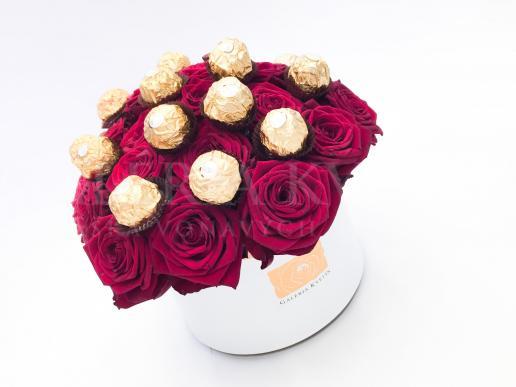 Kvetinový box SLADKÉ FERRERO
