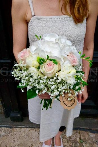 Svadobná kytica Kráľovná hortenzia