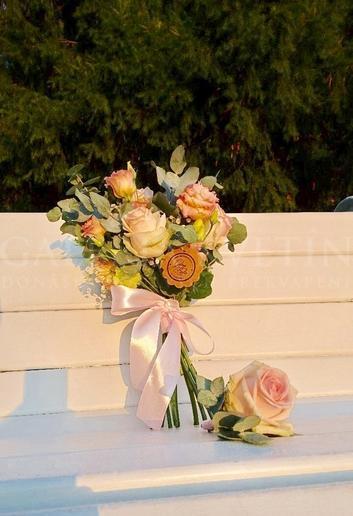 Zamilovaná svadobná kytica