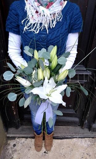 Svadobná kytica Úsmev ľalie