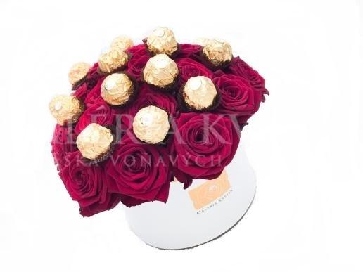 Kvetinový box SLADKÉ FERRERO GRAND