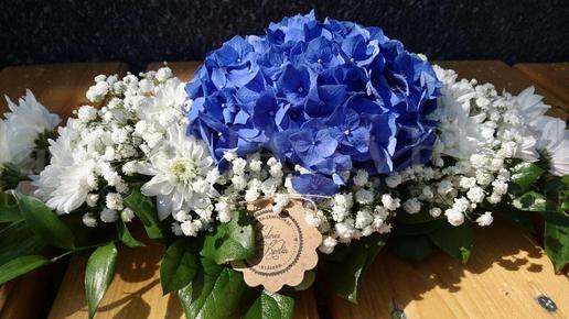Ikebana na stôl Modrý diamant