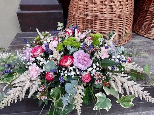 Ikebana na stôl Provensálske leto