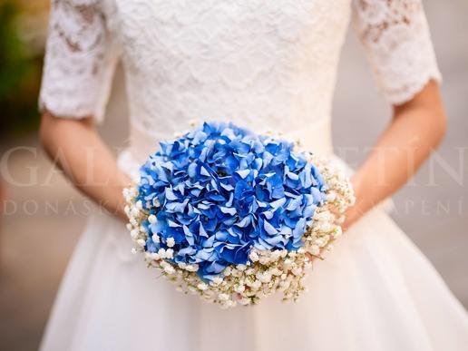 Svadobný set Modrý diamant