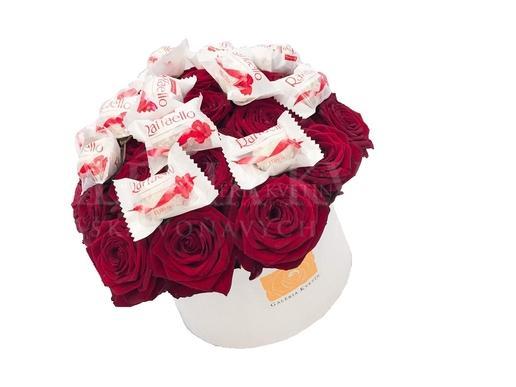 Kvetinový box SLADKÉ RAFFAELLO GRAND