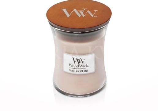 Sviečka Woodwick® stredná Vanilla Sea Salt