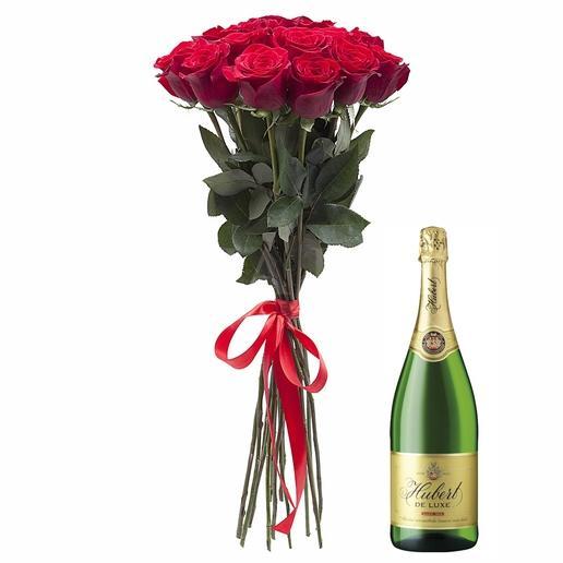 Kytica 9 ruží + Hubert de Luxe