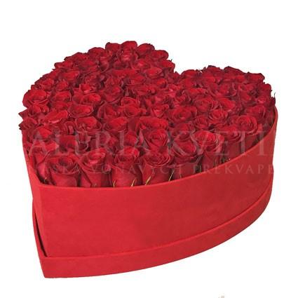 Kvetinový box srdce GRAND