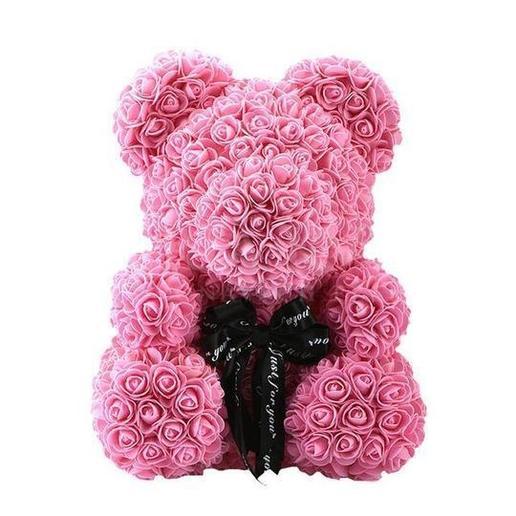 rose teddy bear pink